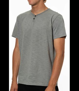 Katin USA Folk Henley Knit Gray Green T-Shirt