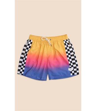 Duvin Design Co. Sunrise Checker Swim Short