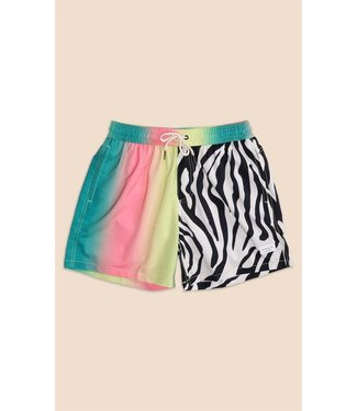Duvin Design Co. Vertical Stripe Zebra Swim Short