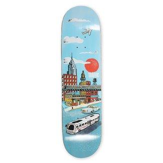 "Traffic Skateboards 8.75"" City Blocks Liberty Place Deck"