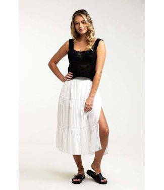 Rhythm Lulu Tiered Midi Skirt