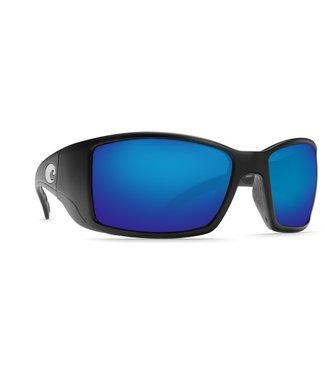 Costa Del Mar Blackfin Matte Black Blue Mirror 580G Sunglasses