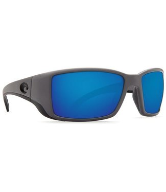 Costa Del Mar Blackfin Matte Gray Blue Mirror 580G Sunglasses