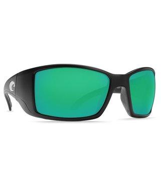 Costa Del Mar Blackfin Matte Black Green Mirror 400G Sunglasses