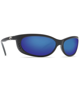 Costa Del Mar Fathom Matte Black 400G Blue Mirror Lens Sunglasses