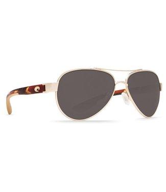 Costa Del Mar Loreto Rose Gold 580P Grey Lens Sunglasses