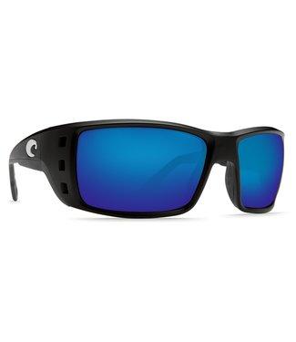 Costa Del Mar Permit Matte Black 580G Blue Mirror Lens Sunglasses