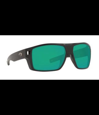 Costa Del Mar 580G Diego Matte Black/Green Mirror Sunglasses