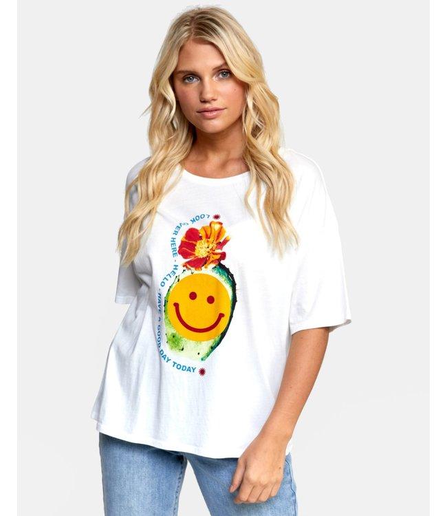 RVCA Happy Cactus Boyfriend T-Shirt