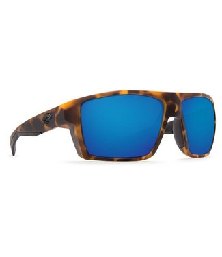 Costa Del Mar Bloke Matte Retro Tort 580G Blue Mirror Lens Sunglasses