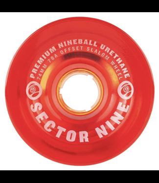 Sector 9 74mm 9-Balls Slalom 78A Wheels