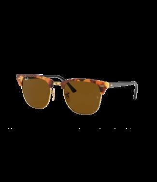 Ray Ban Clubmaster Fleck Polar Sunglasses