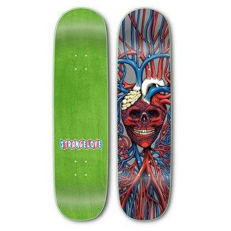 """StrangeLove Skateboards 8.5"""" Heart Skull Deck"""