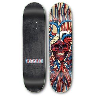 """StrangeLove Skateboards 8.25"""" Heart Skull Deck"""