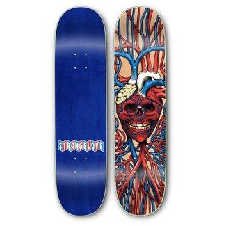 """StrangeLove Skateboards 8.0"""" Heart Skull Deck"""