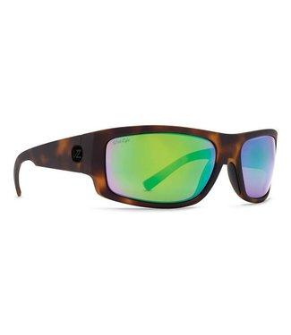 Vonzipper Semi Tort Satin with Wild Green Flash Polar Lens Sunglasses