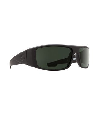 Spy Optic Logan Soft Matte Black Grey Green Lens Polarized