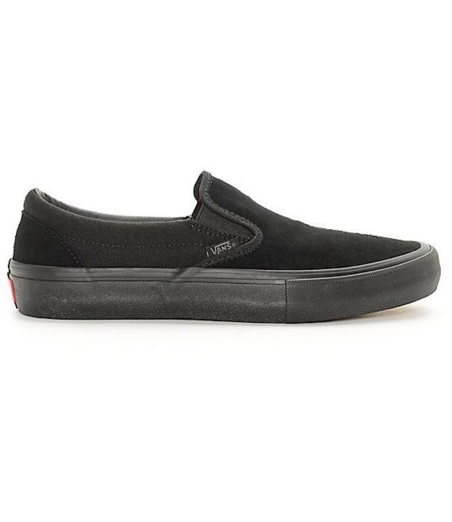 3170694714 Vans Classic Slip-On Pro Black Mono Skate Shoes - Drift House Surf Shop