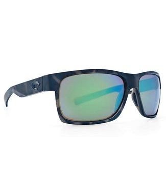 Costa Del Mar Half Moon OCEARCH Shiny Black 580 G Blue Mirror Lens Sunglasses