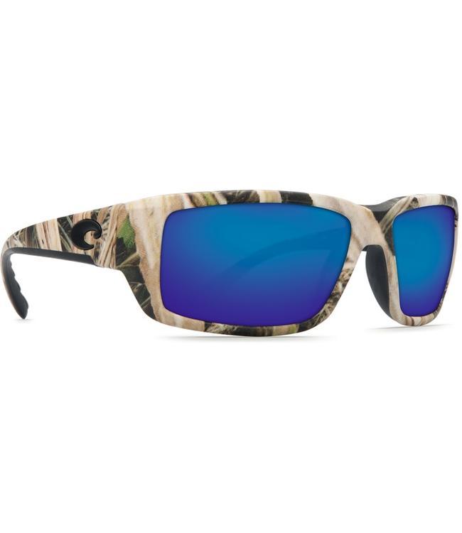 41522f2a3a7 Costa Del Mar Fantail Mossy Oak Shadow 580G Blue Mirror Lens Sunglasses