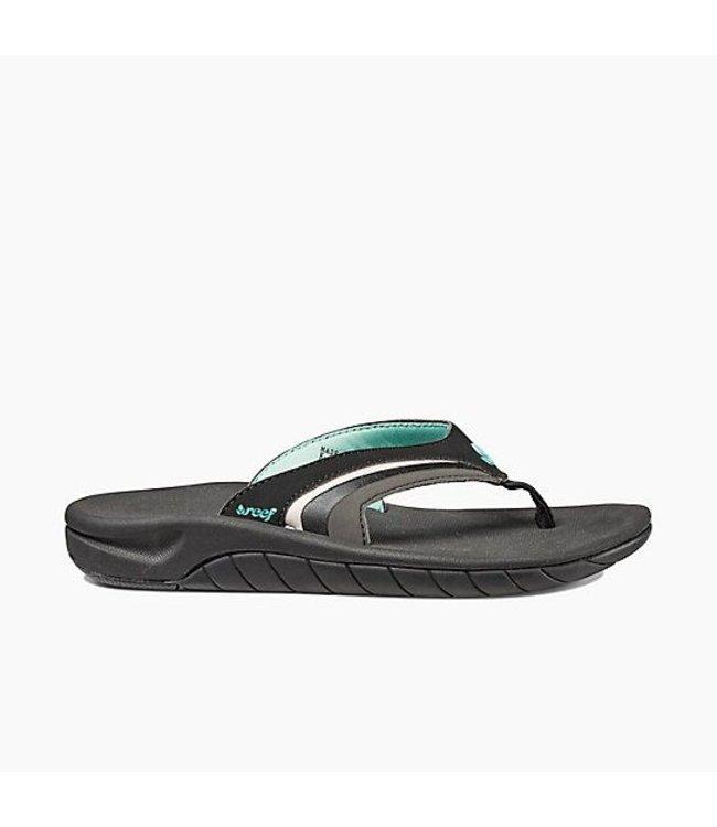 1ea6be3334ef Reef Slap 3 Black and Aqua Sandals