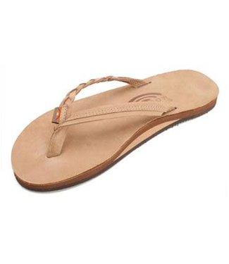 Flirty Braidy Sierra Single Layer Leather Sandals