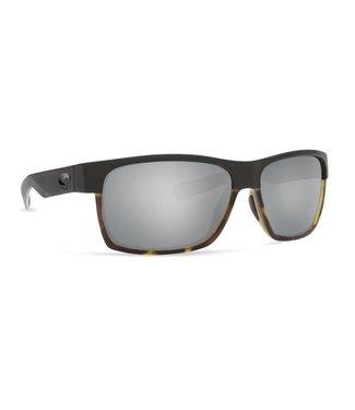 1e0e461669 Costa Del Mar Half Moon Matte Black and Tort 580G Silver Lens Sunglasses