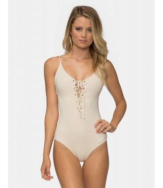 TAVIK Monahan One Piece Glossy Pique Tapioca Swimsuit