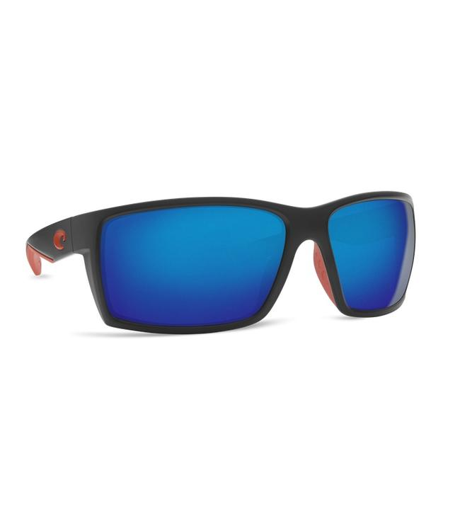 Costa Del Mar Reefton Race Black 580G Blue Mirror Lens Sunglasses