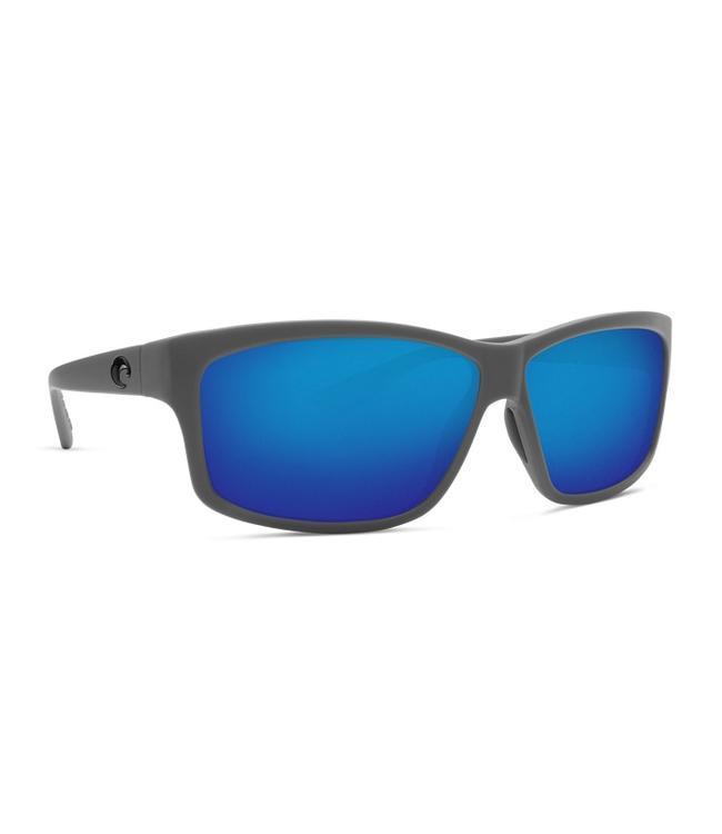 Costa Del Mar Cut Matte Gray 580G Blue Mirror Lens Sunglasses