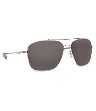 Costa Del Mar Canaveral Shiny Palladium 580P Gray Lens Sunglasses