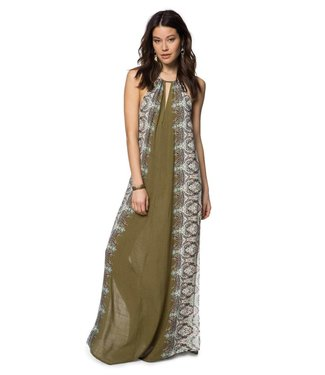 ONEILL Brinkley Military Olive Maxi Dress