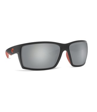 Costa Del Mar Reefton Race Black 580G Gray Silver Mirror Lens Sunglasses