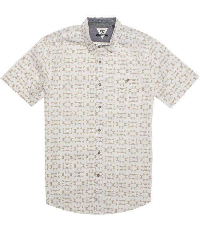 VISSLA Thresher Buttondown Bone Shirt