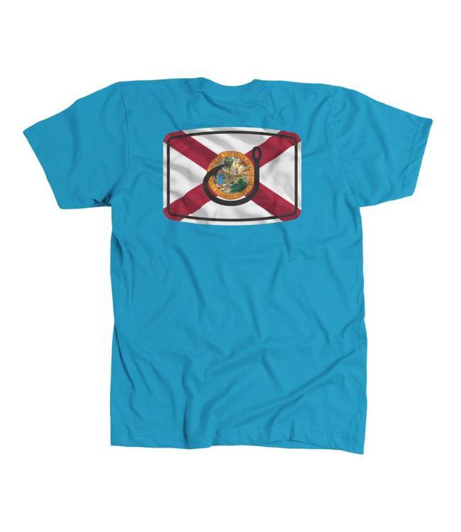 Avid Florida Flag Blue Heather Tee