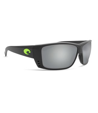 Costa Del Mar Cat Cay Mt Black and Green Logo 580G Silver Mirror Lens Sunglasses