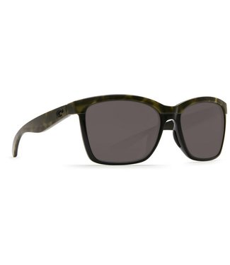 Costa Del Mar Anaa Shiny Olive Tort 580P Gray Lens Sunglasses