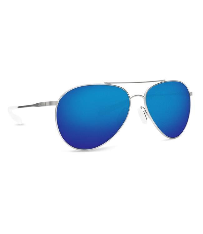 Costa Del Mar Piper Velvet Silver 580P Blue Mirror Lens Sunglasses