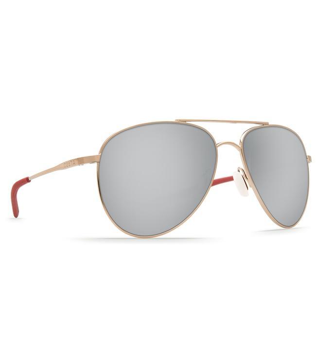 Costa Del Mar Cook Rose Gold 580P Silver Mirror Lens Sunglasses