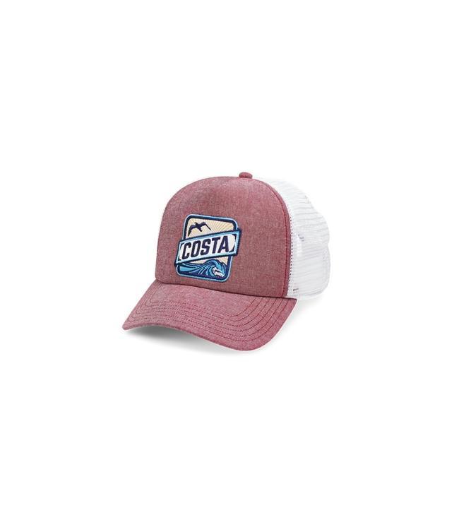 040ce003974 ... amazon costa del mar chambray maroon trucker hat c90e3 a9572
