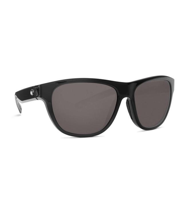 85e4048f3191d Costa Del Mar Bayside Shiny Black 580P Gray Lens Sunglasses