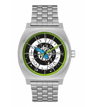 Nixon Time Teller Santa Cruz Silver / Roskopp 37mm Watch