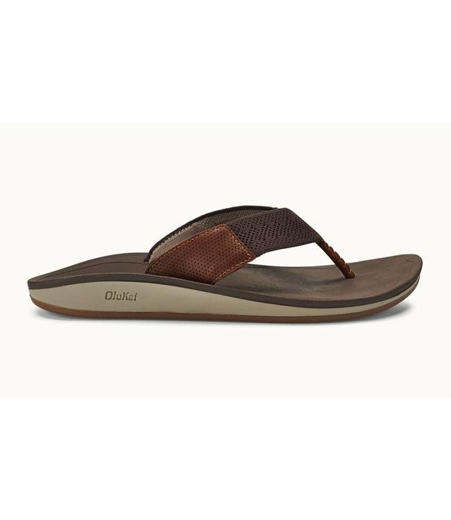 Olukai Nohana Ulana Dark Wood Sandals