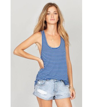 Amuse Society La Plage Blue Tank Top