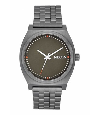 Nixon Time Teller All Gunmetal Slate and Orange Watch