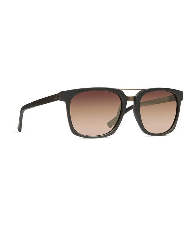 0dc74585c19a7 Vonzipper Plimpton Black Satin with Rust Gradient Lens Sunglasses ...