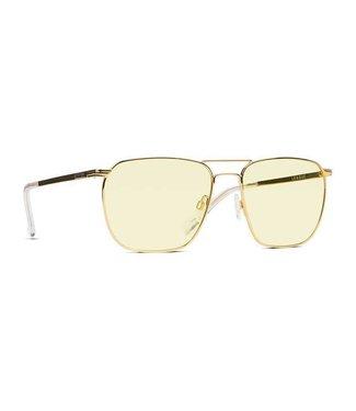 Vonzipper League Gold Gloss Sunburst Lens Sunglasses