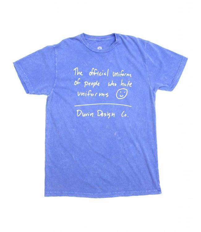 Duvin Design Co. Official Uniform Blue Tee