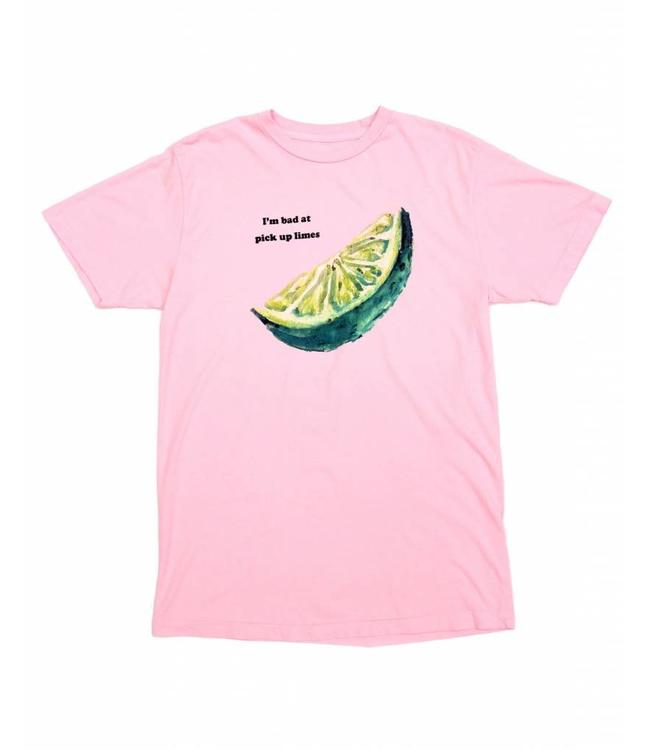 Duvin Design Co. Pick Up Limes Pink Tee