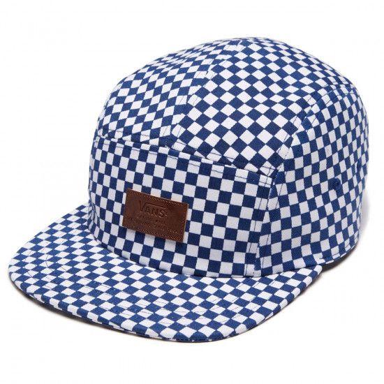 4f47b83c13c Vans Davis 5 True Blue and White Panel Camper Hat